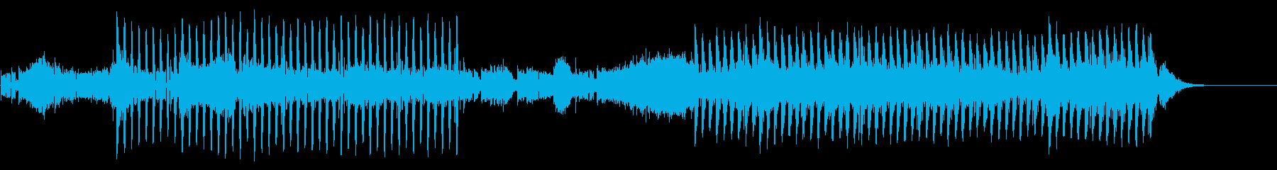 シンセが印象的なパワフルなEDMの再生済みの波形