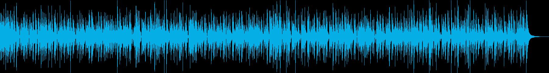 軽やかでクールなウクレレの曲の再生済みの波形