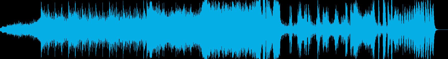 迫力あるエピック系BGMの再生済みの波形