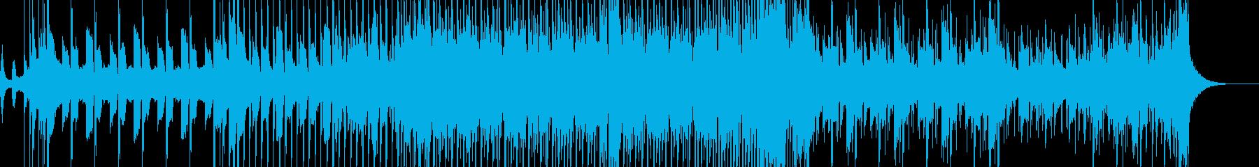 暗めなシンスウェーブの再生済みの波形