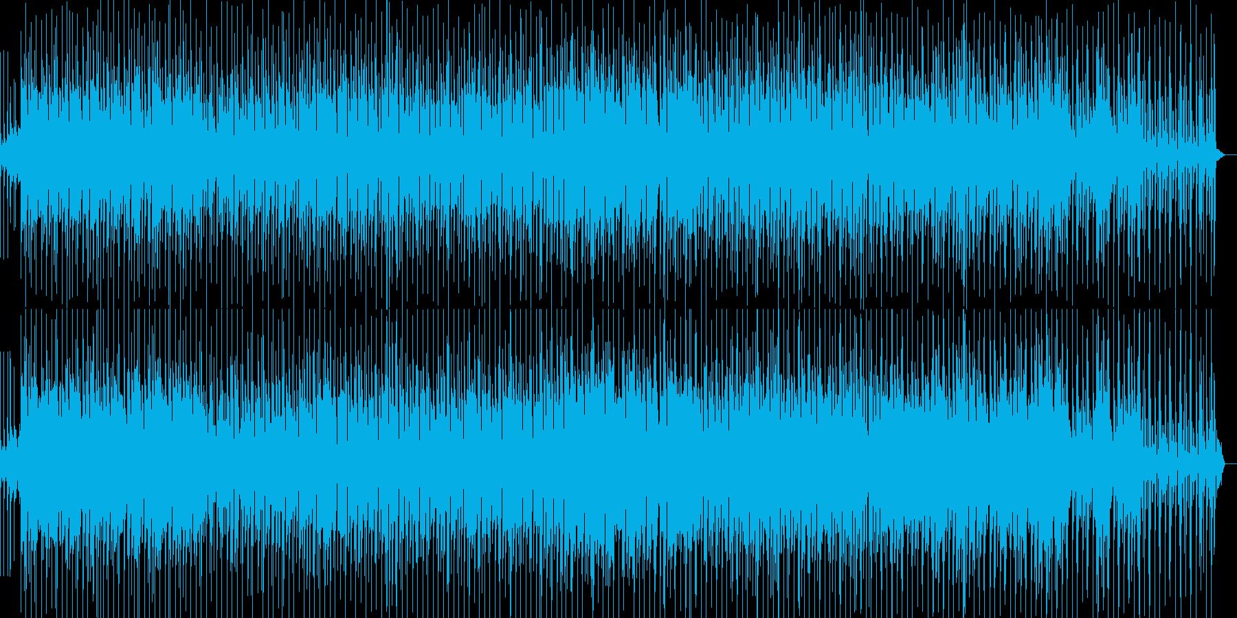 軽快なリズムのシンセポップの再生済みの波形