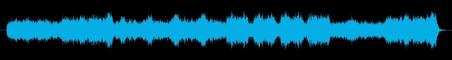 壮大で響きが特徴的なメロディーの再生済みの波形