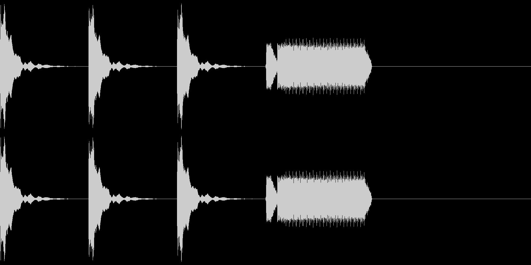 カウントダウン3秒+ホイッスルピッピーの未再生の波形