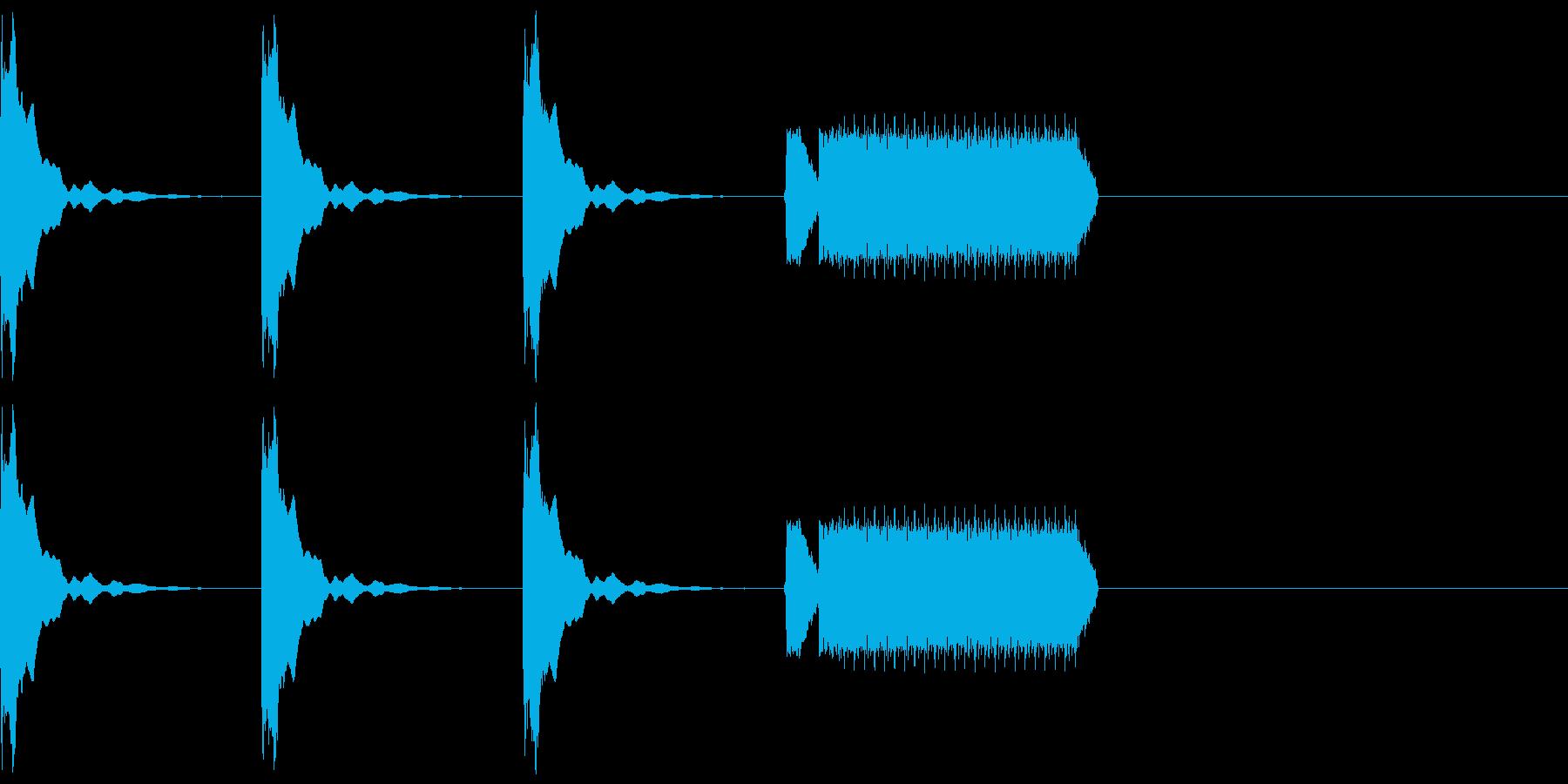 カウントダウン3秒+ホイッスルピッピーの再生済みの波形