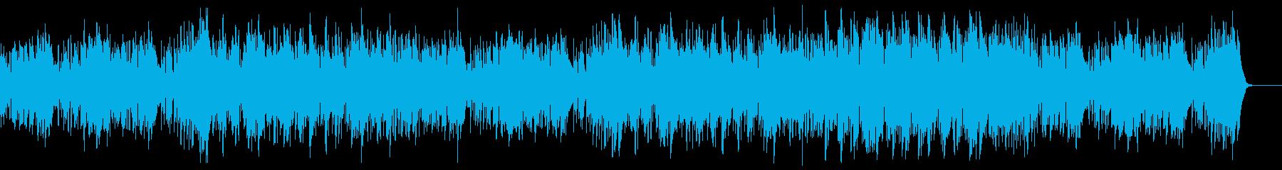 コミカルで怪しい夏の海、ジャズの再生済みの波形