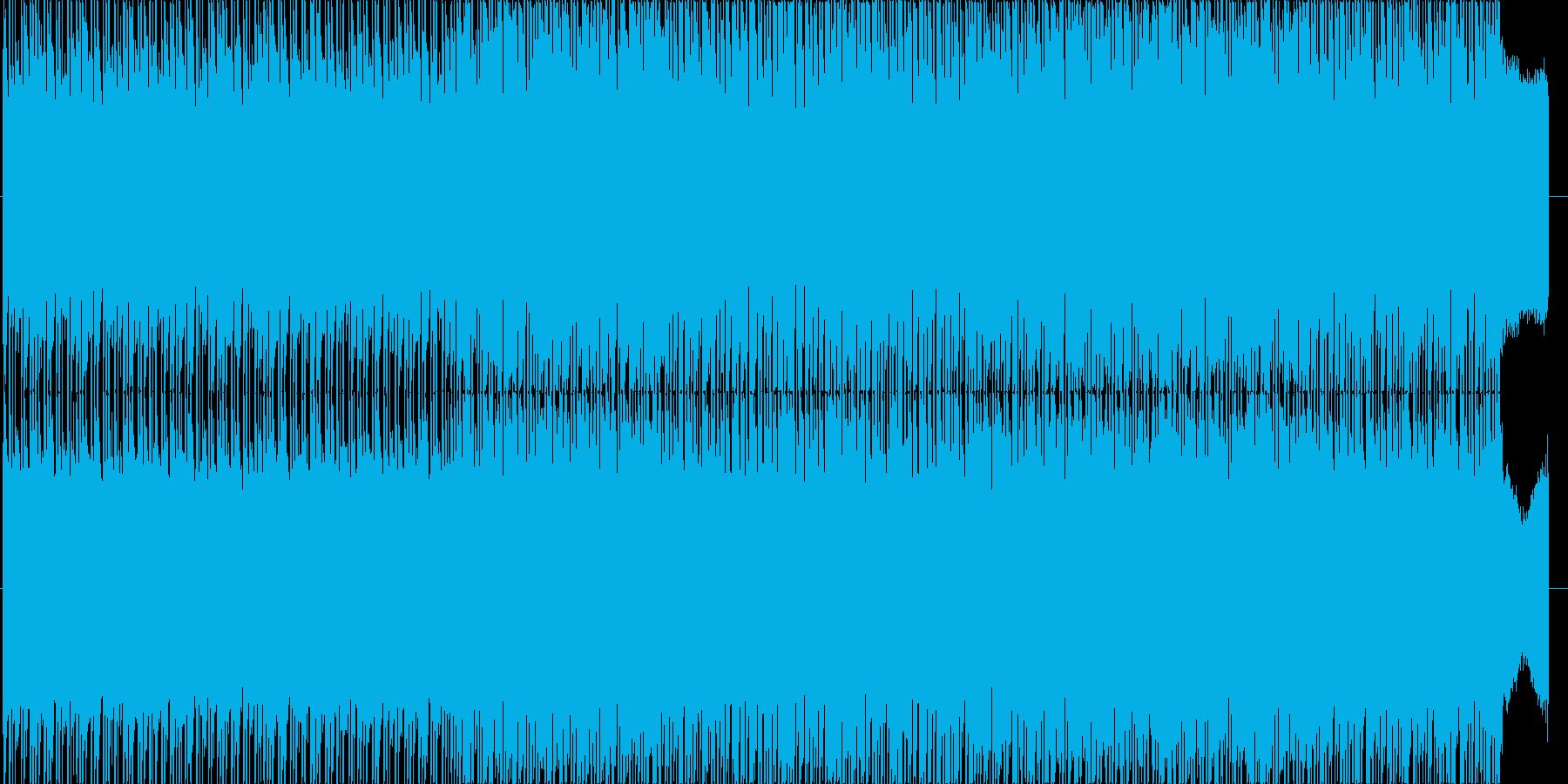 ☆YOU TUBE動画用☆陽気なピアノ曲の再生済みの波形