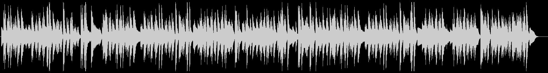 明るく爽やかなジャズピアノ・ソロの未再生の波形