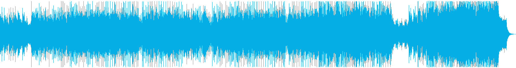 明るく軽快なタッチのテクノポップの再生済みの波形