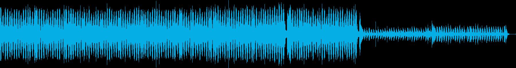 ビートの聴いたクールなリズムトラックの再生済みの波形