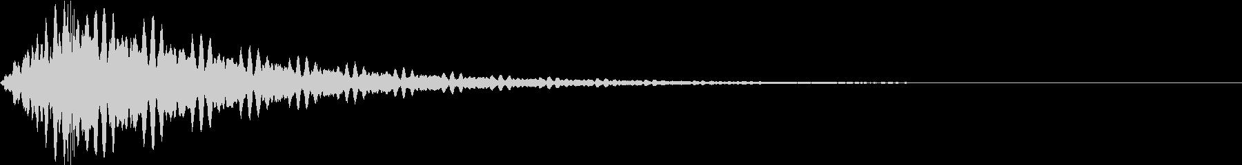 シュイーン(金属チックなトーン)の未再生の波形
