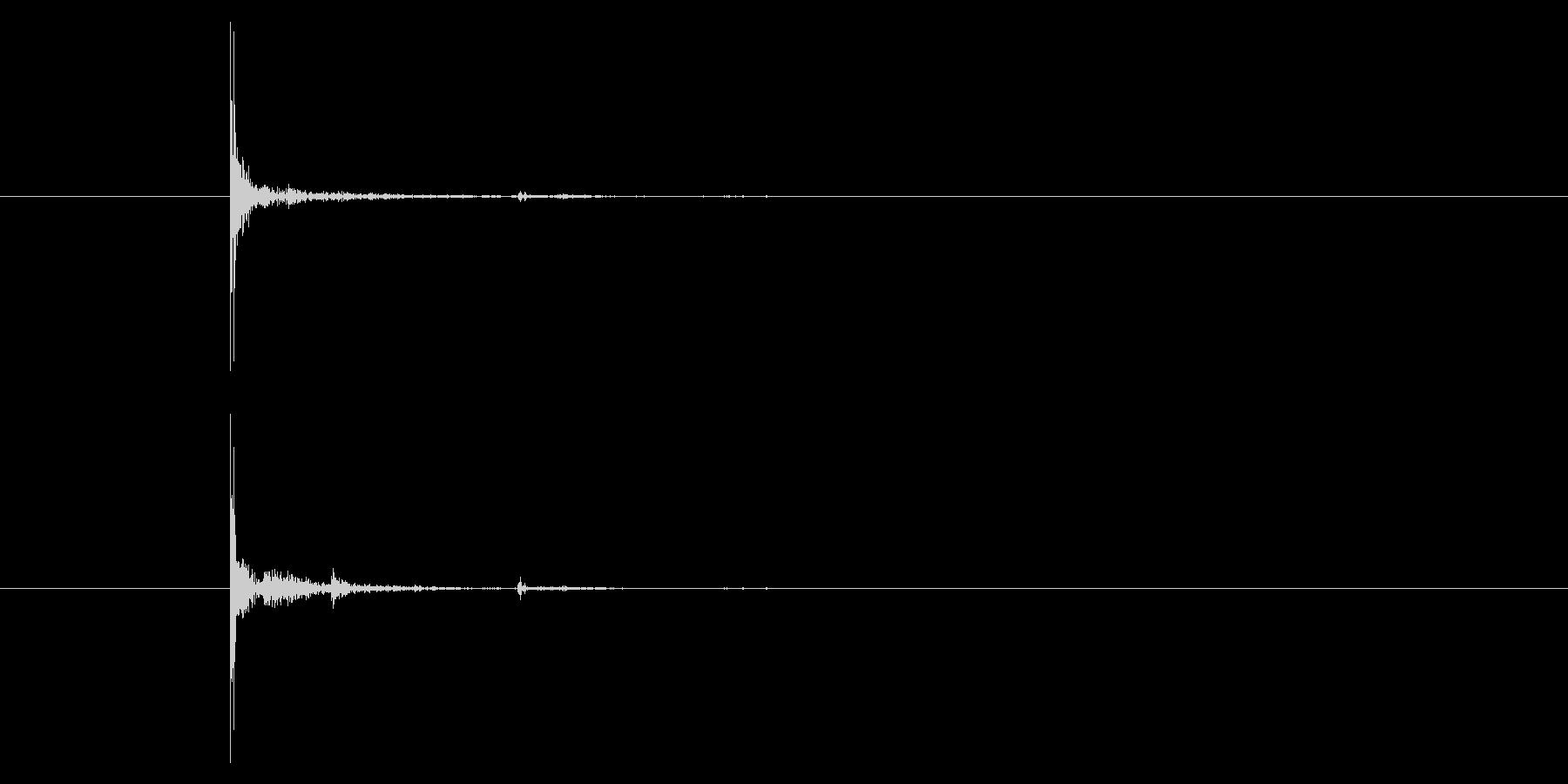 ウッドバット:ソフトボールヒット、...の未再生の波形
