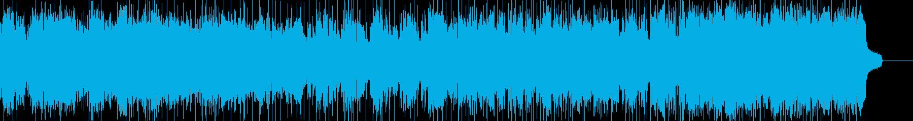 フルートのロックで軽快な曲の再生済みの波形