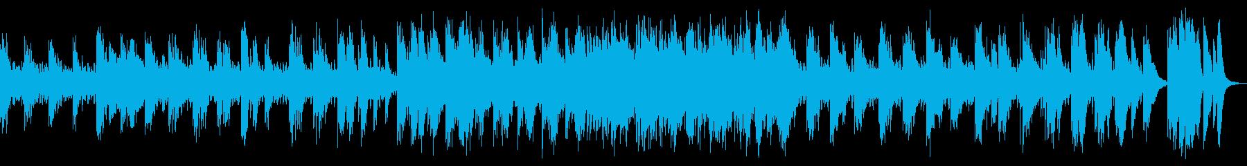 和楽器中心の、スローテンポな曲の再生済みの波形
