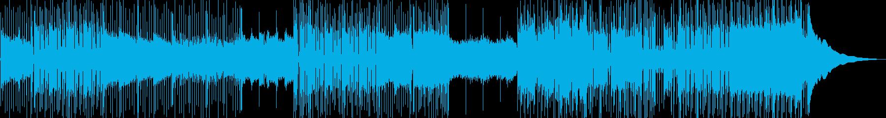 ミステリアスな雰囲気のギターロックBGMの再生済みの波形