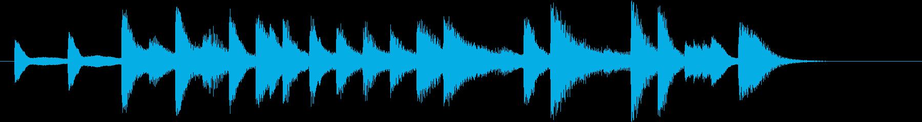 もろびとこぞりてモチーフピアノジングルCの再生済みの波形