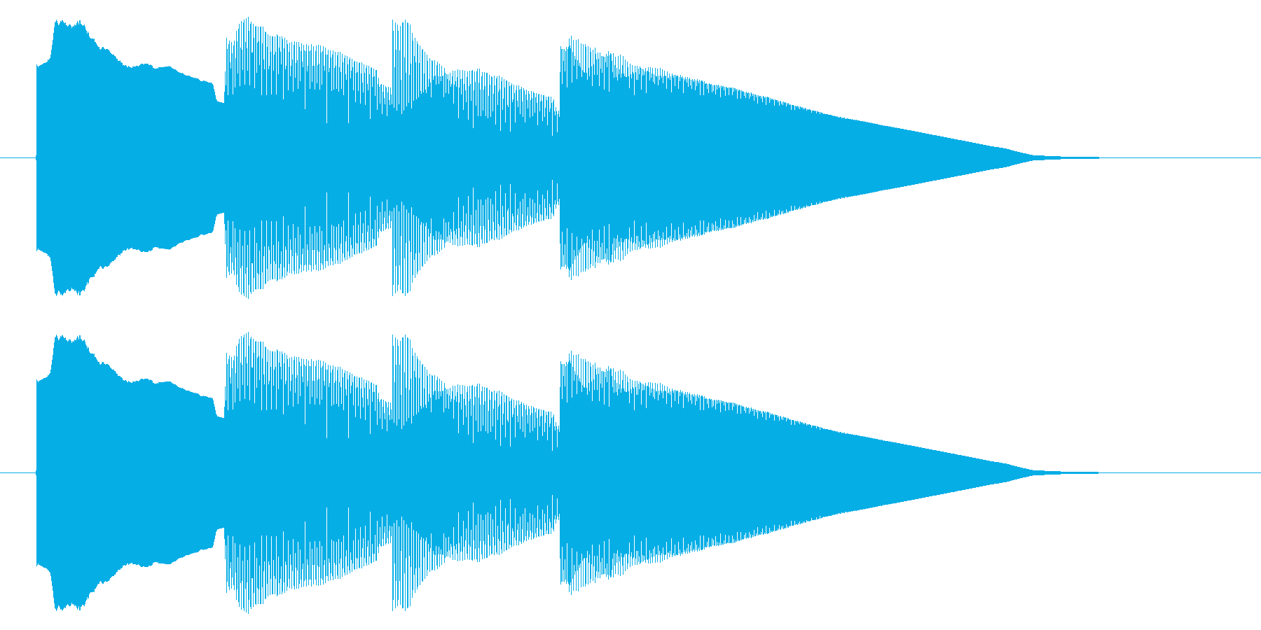 チャイム アナウンス06-1の再生済みの波形