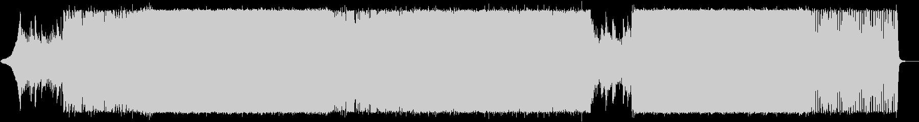 アニメの戦闘シーン、主人公覚醒シーンの未再生の波形