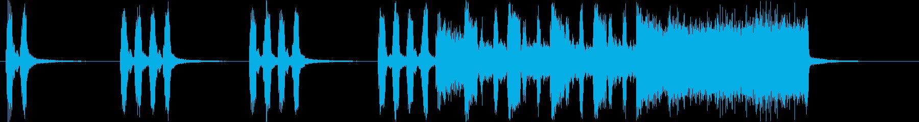 コミカルなシンセ・木琴など短めサウンドの再生済みの波形