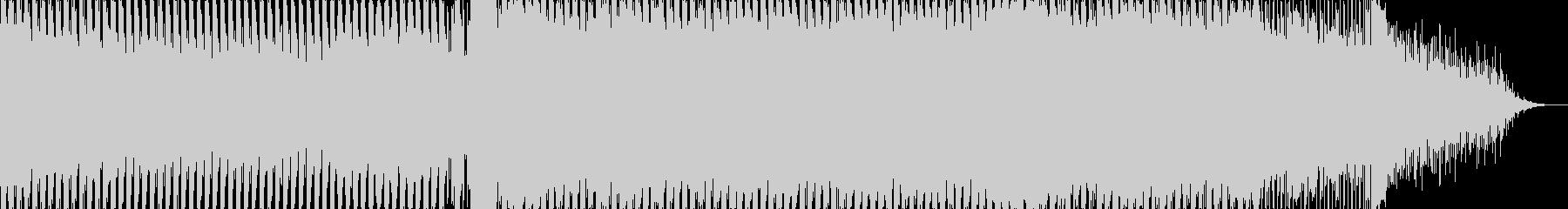 盛り上がりが派手な4打ちのトランスの未再生の波形