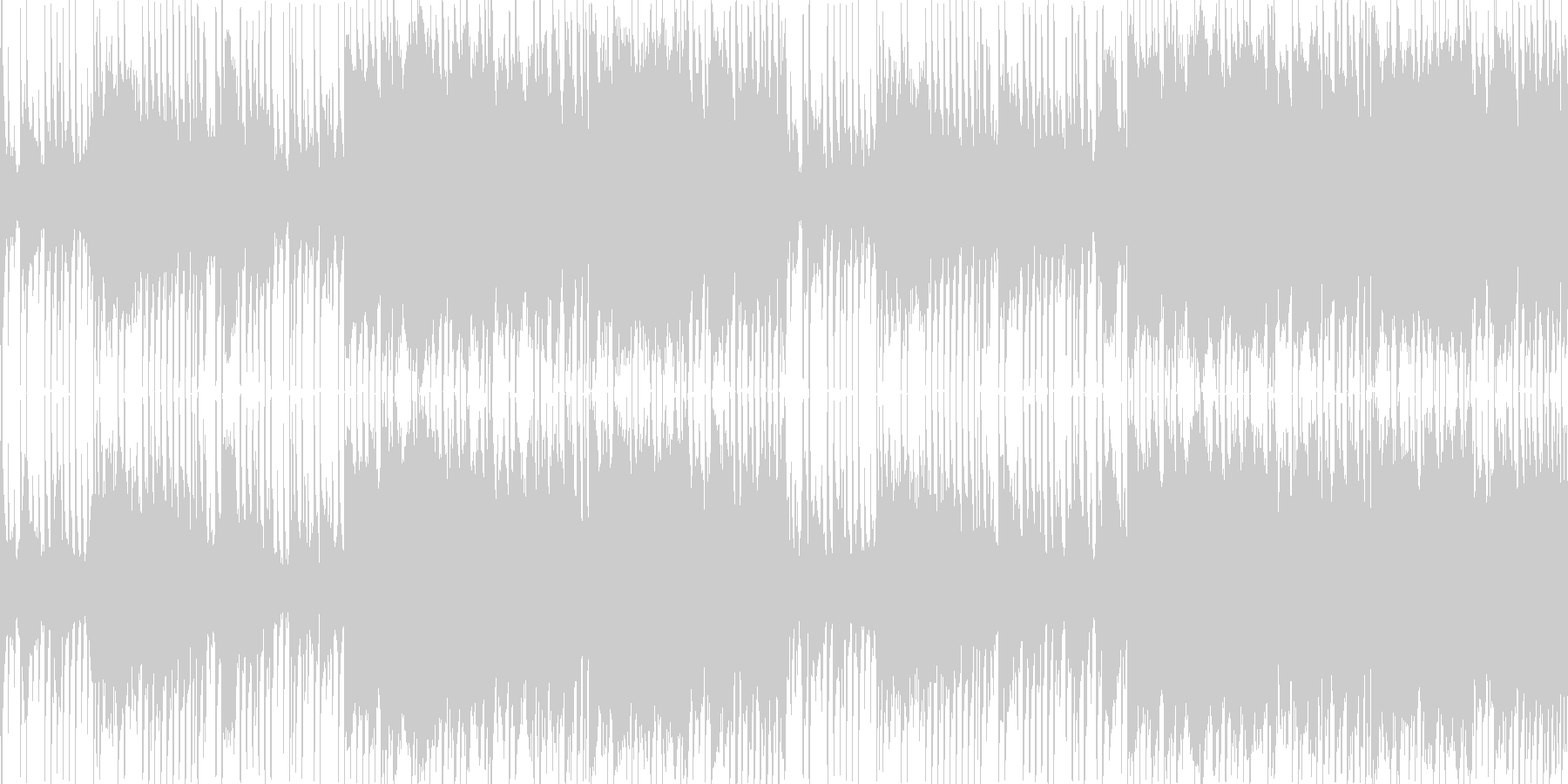 ダブステップのワブルベースを用いたBGMの未再生の波形