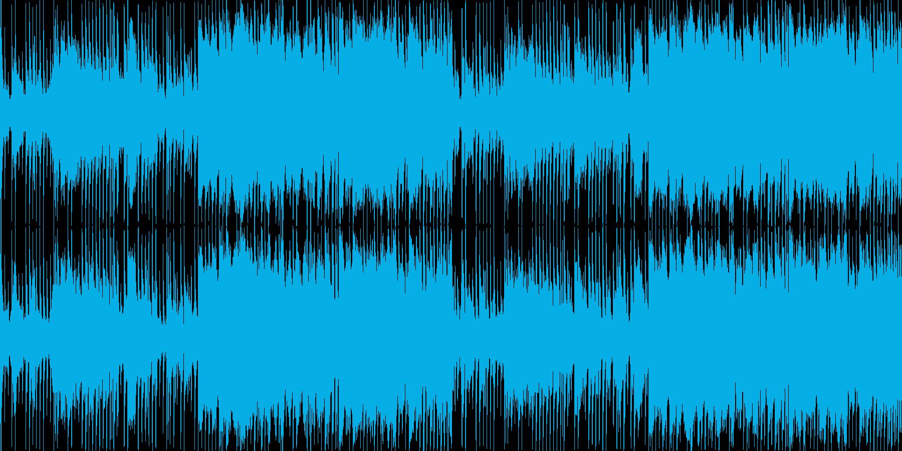 ダブステップのワブルベースを用いたBGMの再生済みの波形