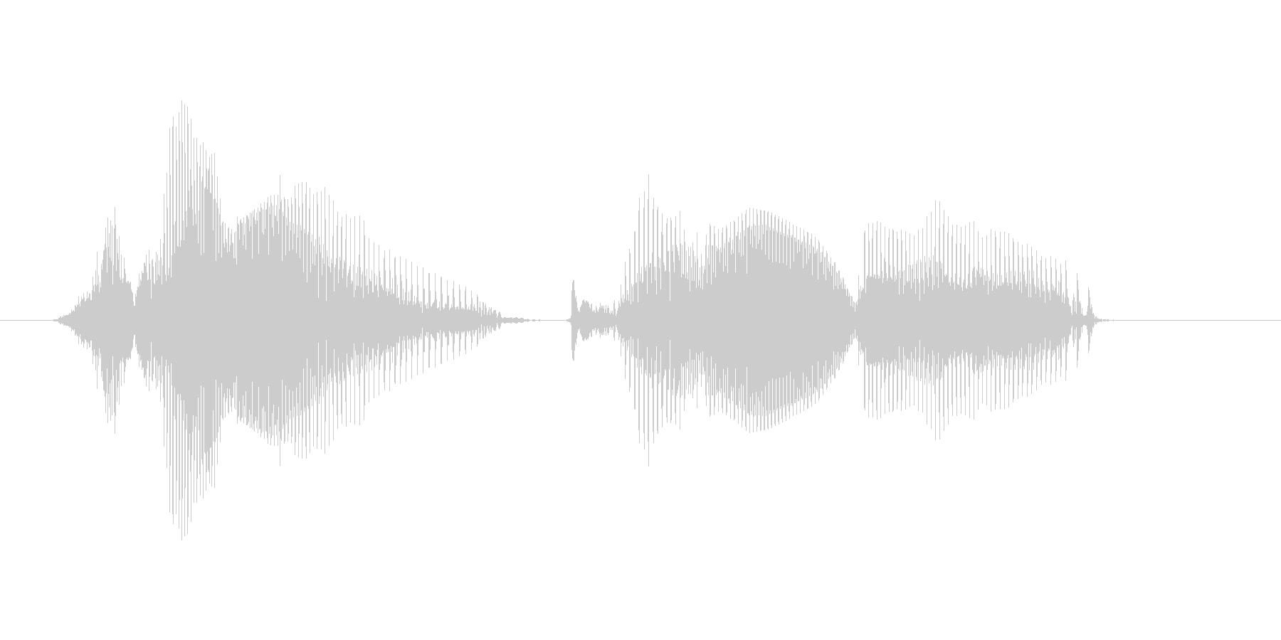 作業完了の未再生の波形