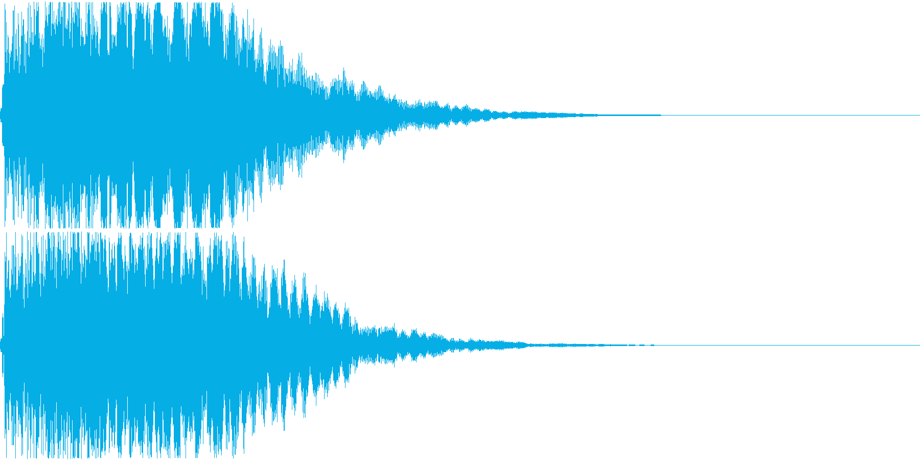 キュイン ギュイーン シャキーン 08の再生済みの波形