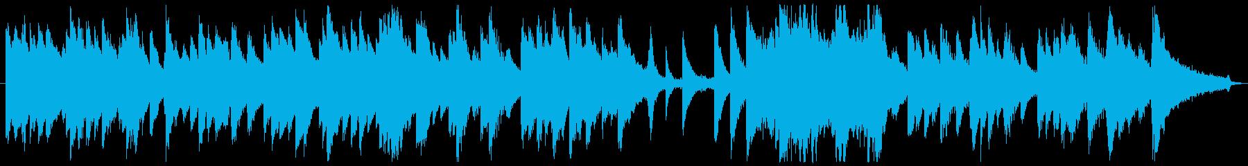 切ない&優しいピアノ曲(ソロピアノ)の再生済みの波形