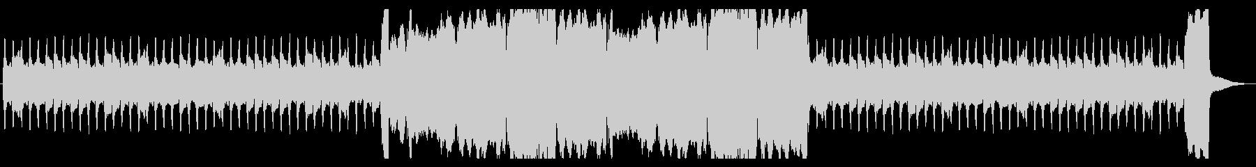 ほのぼのした雰囲気のパイプオルガンの曲の未再生の波形