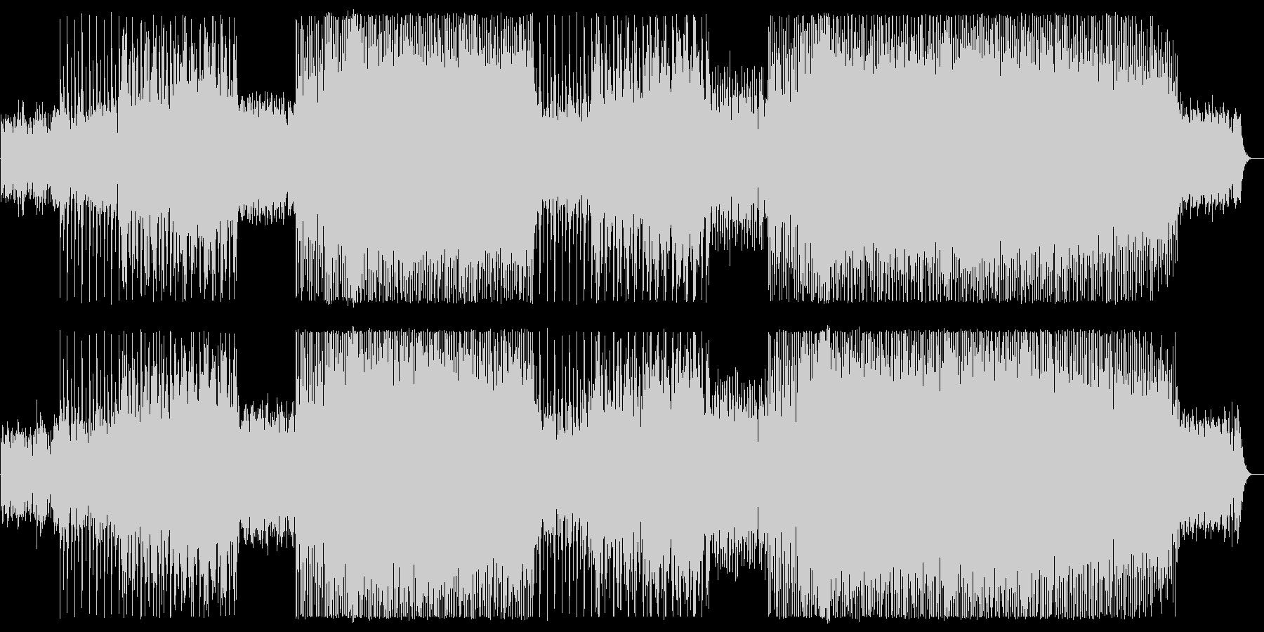 緩やかでリズミカルなピアノテクノポップの未再生の波形