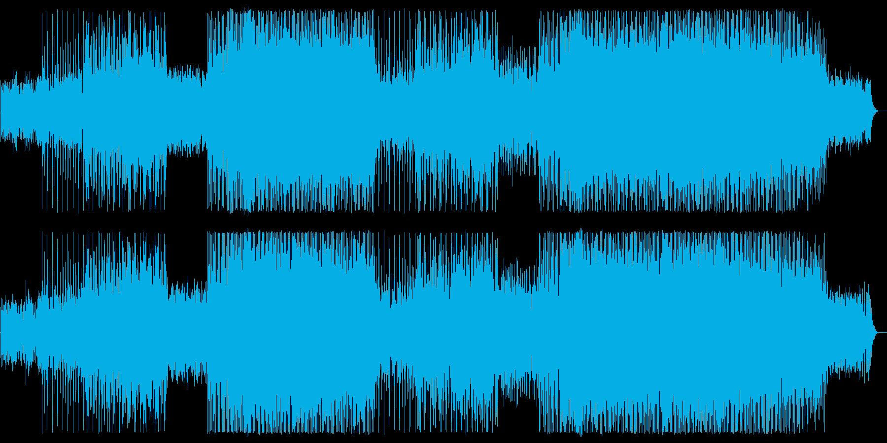 緩やかでリズミカルなピアノテクノポップの再生済みの波形