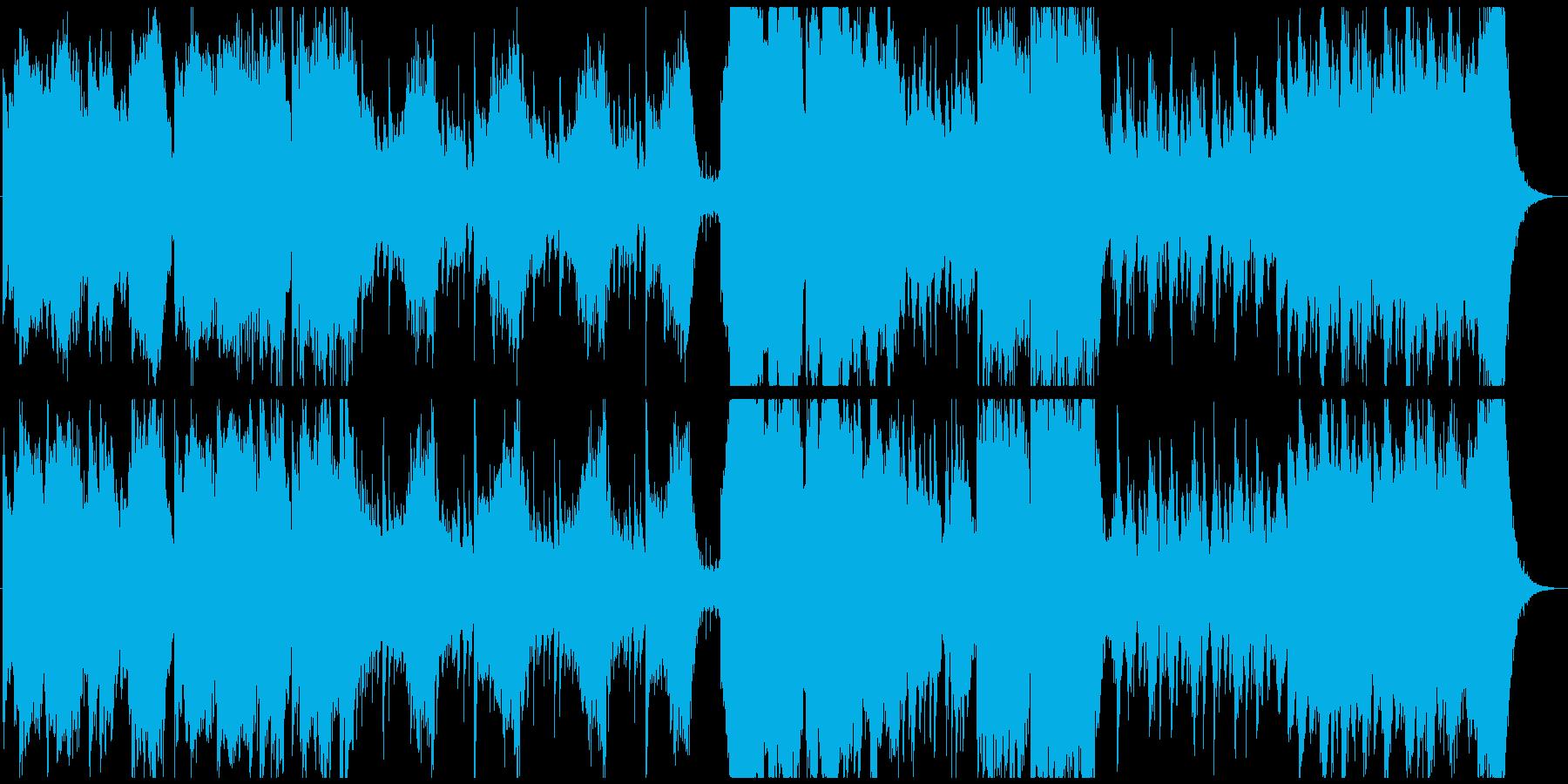 昔話・民話・まったり和風曲の再生済みの波形