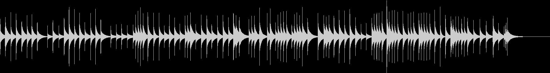ゆったりとした可愛いオルゴールの未再生の波形