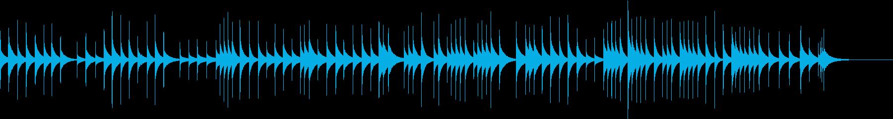 ゆったりとした可愛いオルゴールの再生済みの波形