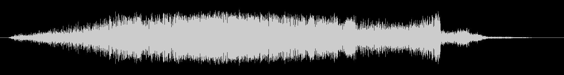 シャープホローノイズスイープ1の未再生の波形