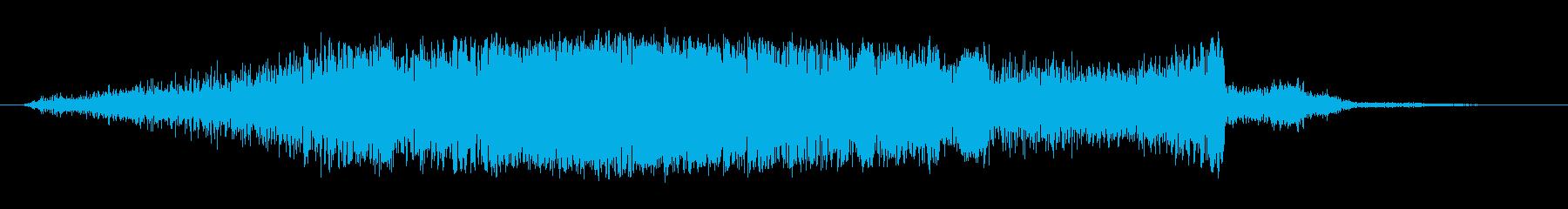 シャープホローノイズスイープ1の再生済みの波形