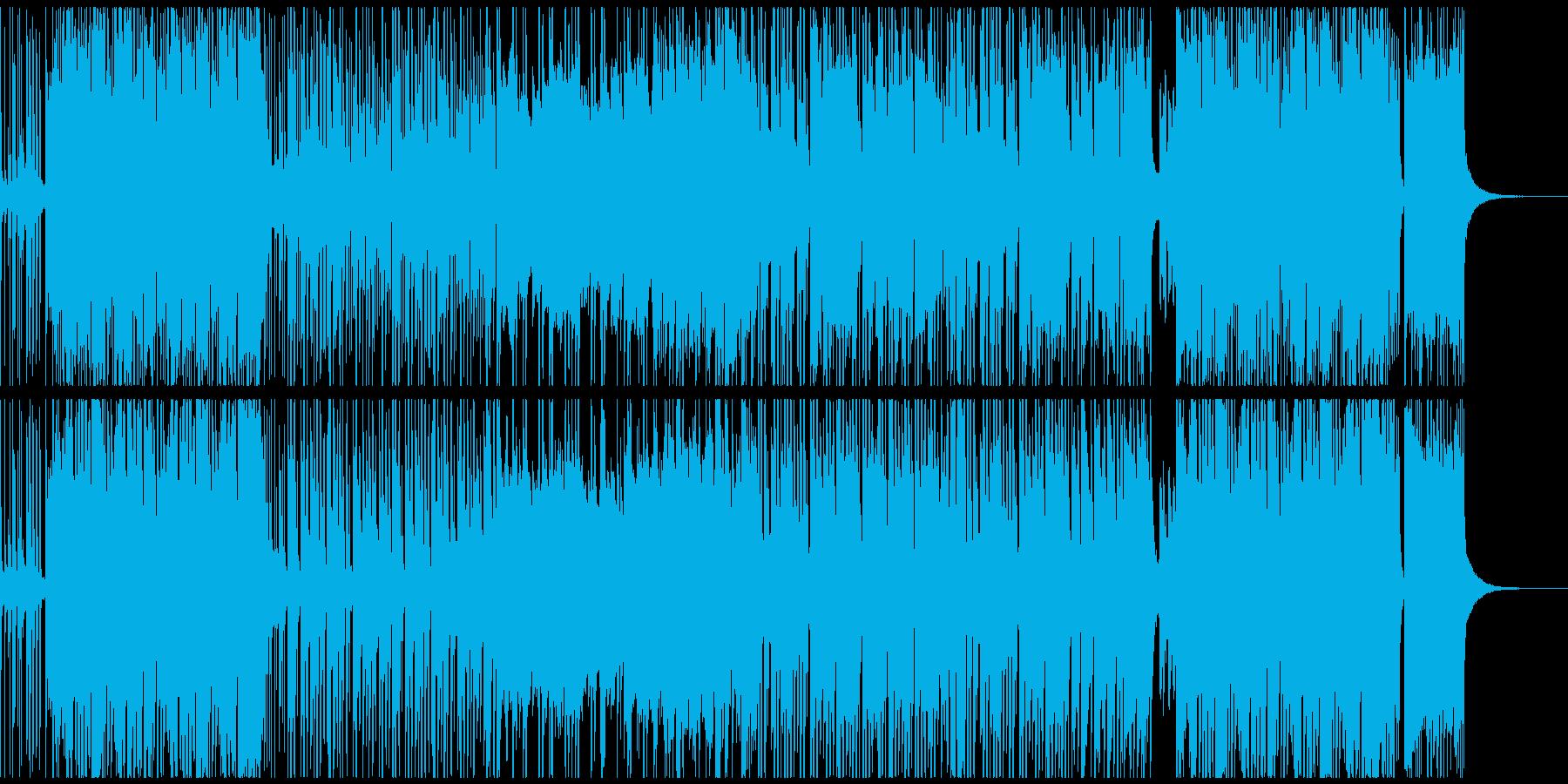 ブラスメロディーでワクワク感ある元気な曲の再生済みの波形