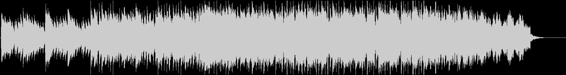 映像によく合うピアノが印象的なジングルの未再生の波形