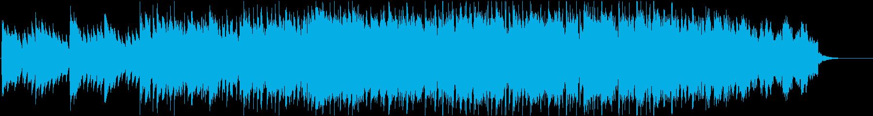 映像によく合うピアノが印象的なジングルの再生済みの波形