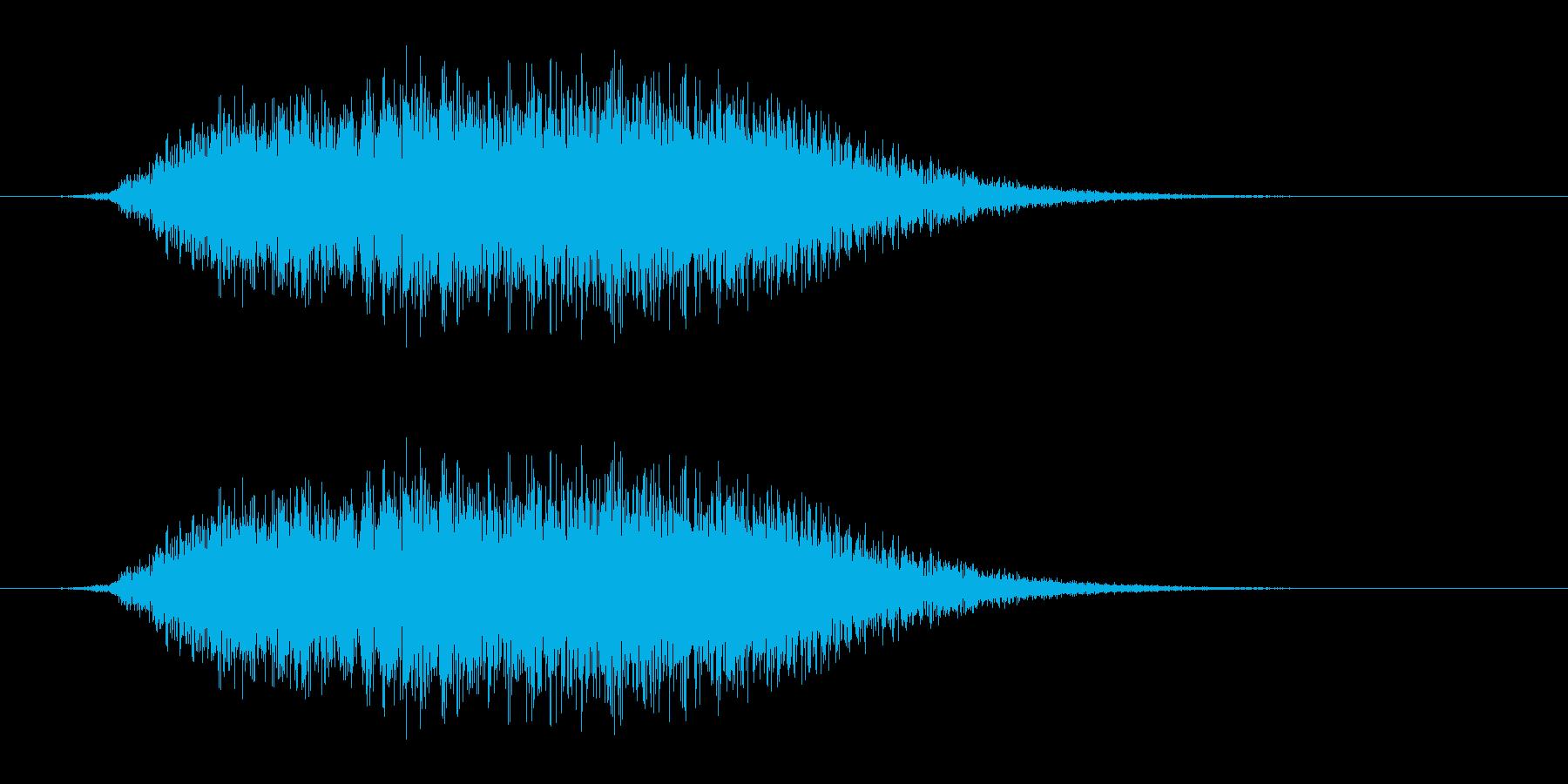 シューッという音EC07_86_5 2の再生済みの波形