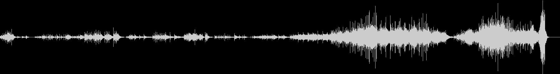 幻想的なピアノソロののBGMの未再生の波形