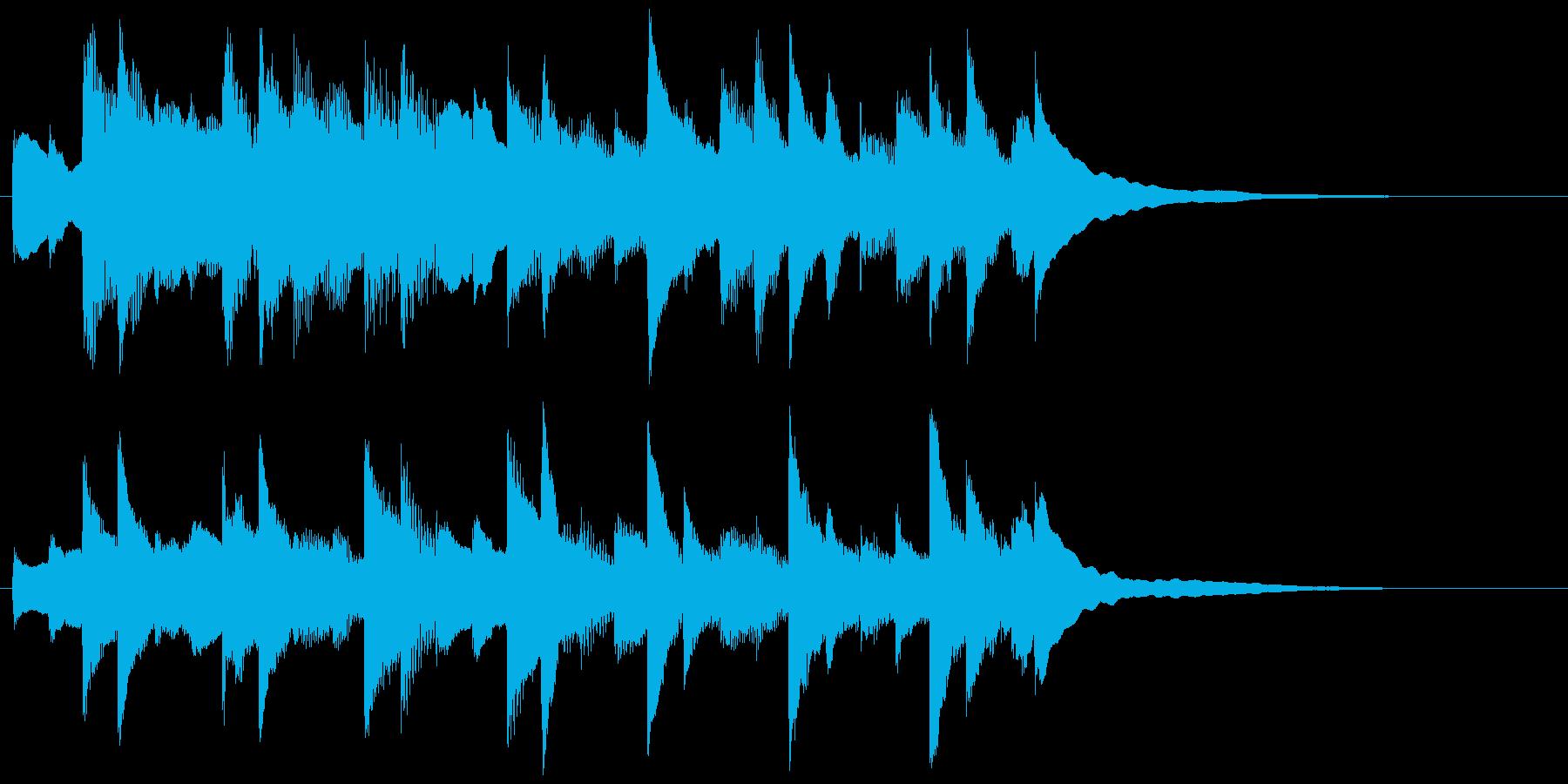 夕涼み癒しピアノジングルで涼し気かわいいの再生済みの波形