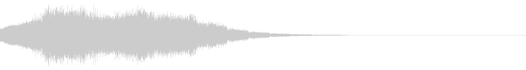 SF風効果音の未再生の波形