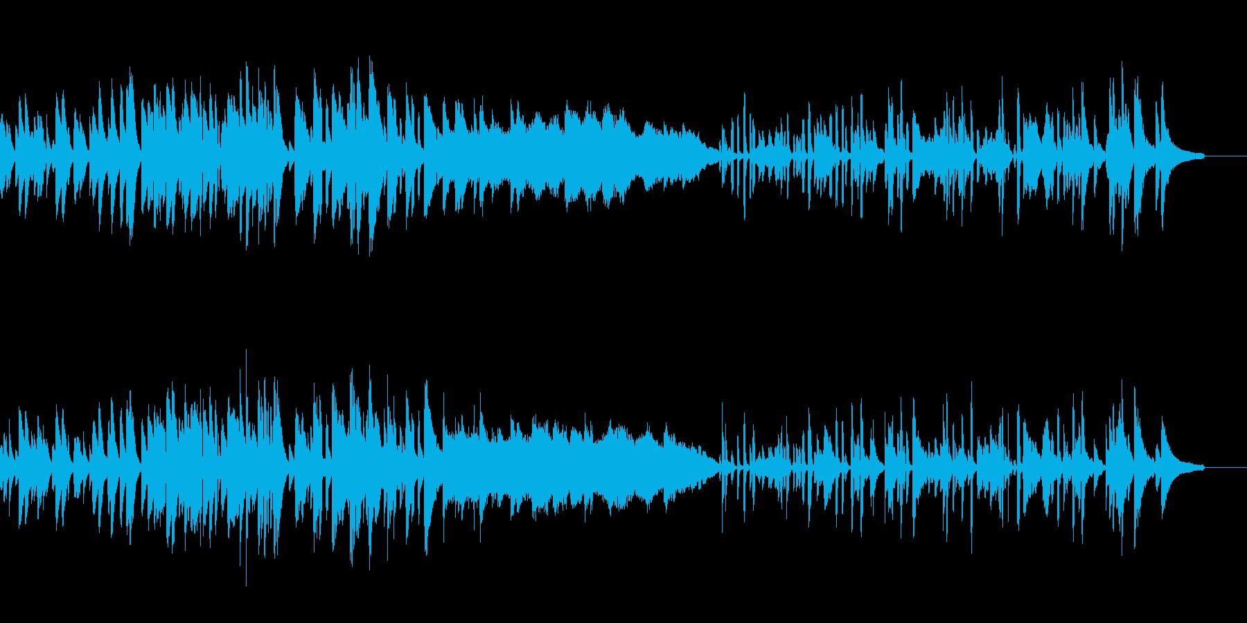 考えている最中のBGMの再生済みの波形