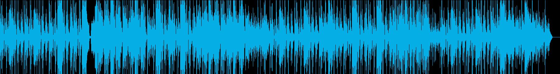 バンジョーとスチールドラムの楽しげな曲の再生済みの波形