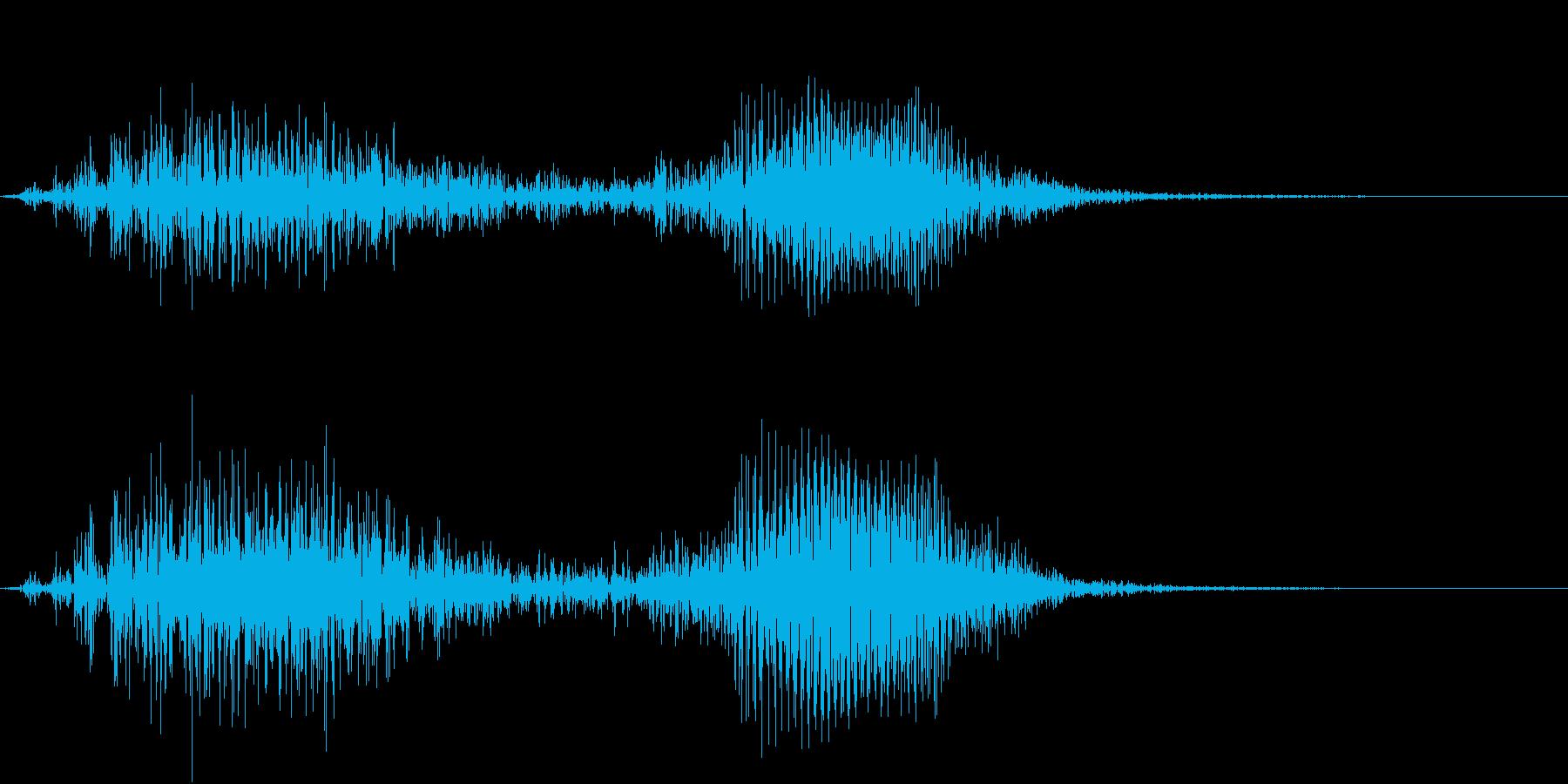 【生録音】アホ!と言っている様な鳥の声の再生済みの波形