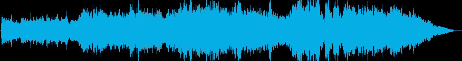 ドラマオープニング風のオーケストラ楽曲の再生済みの波形