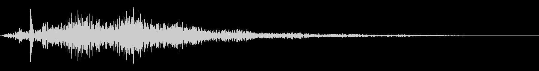 場面切り替え(シーン):SF風の音の未再生の波形