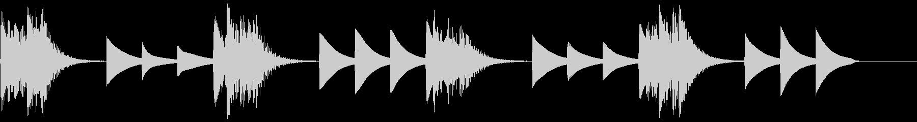 綺麗で印象的な着信音2の未再生の波形