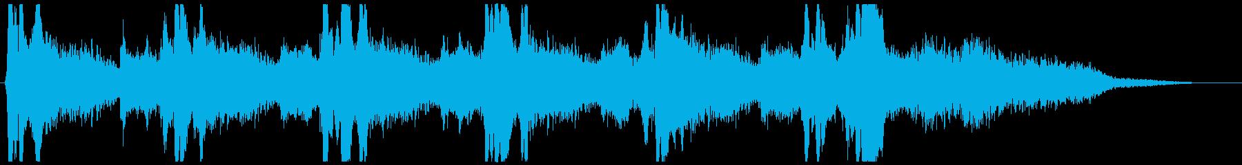 ゴースト・ホラー・映画の音源・BGMの再生済みの波形